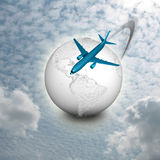 Flugzeugverkehr lizenzfreie abbildung