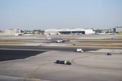 Flugzeugverkehr Stockbild