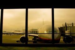 Flugzeugverkehr lizenzfreie stockbilder