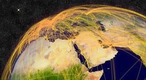 Flugzeugverkehr im Mittlere Osten Lizenzfreies Stockbild