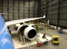 Flugzeugwartung Stockbilder
