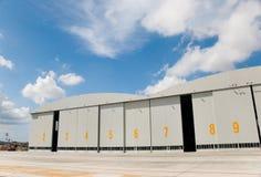 Flugzeugwartung-Hangars Stockfotografie