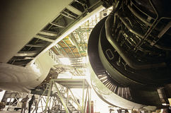 Flugzeugwartung Melbourne Australien stockfotografie