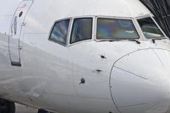 Flugzeugwekzeugspritze stockfoto