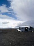 Flugzeugwrack nahe vik Island Lizenzfreie Stockbilder