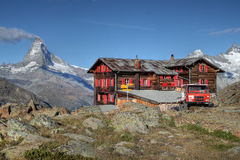 Fluhalp Gebirgshütte, Zermatt, die Schweiz Lizenzfreie Stockfotografie