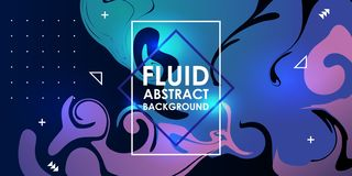 Fluid abstract background trendy neon gradient modern colors vector illustration eps 10. Design geometric graphic liquid minimal poster futuristic layout stock illustration