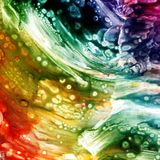 Fluid acrylic abstract interior paint background Stock Image