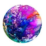 Fluid art in a petri dish. Colorful alcohol, ink, Living colorful bacteria in a petri dish. Stock Photos