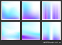 Fluid Aurora on Colorful Abstract Background Set Stock Images