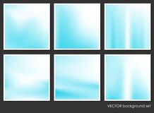 Fluid Aurora on Colorful Abstract Background Set Royalty Free Stock Image
