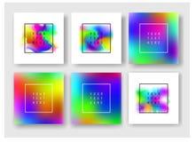 Fluid barwi sztandary ustawiających Zdjęcie Royalty Free