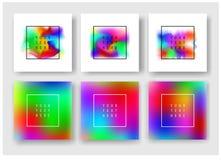 Fluid barwi sztandary ustawiających Obrazy Royalty Free