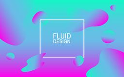 Fluid bubbles. Colorful abstract background. Geometric shapes. Bright design for web, poster, flyer. Vector illustration. Fluid bubbles. Colorful abstract vector illustration