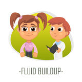 Fluid buildup medical concept. Vector illustration. Royalty Free Stock Photography