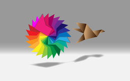 Fluid Color Logo Origami Royalty Free Stock Image