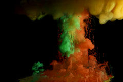 Fluid  color paint Royalty Free Stock Image