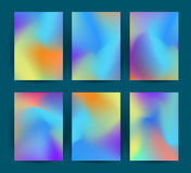 Fluid colorful backgrounds set. Vector. Royalty Free Stock Photo