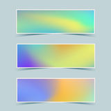 Fluid colorful banners set. Vector. Royalty Free Stock Photos
