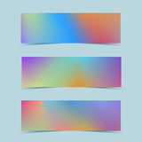 Fluid colorful banners set. Vector. Royalty Free Stock Images