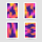 Fluid colors background, blurred background, set posters Royalty Free Stock Photos
