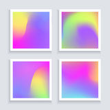 Fluid colors backgrounds set. Applicable for banner, cover, flyer, brochure, wallpaper, invitation card,poster. Vector Royalty Free Stock Photo
