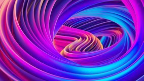 Fluid design twisted shapes holographic 3D abstract background iridescent wallpaper. Fluid design holographic 3D abstract background. Futuristic twisted shapes vector illustration