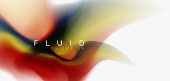 Fluid flowing wave abstract background. Vector techno design Stock Illustration