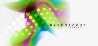 Fluid flowing wave abstract background. Vector techno design Vector Illustration