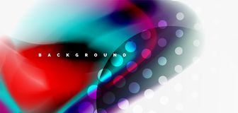 Fluid flowing wave abstract background. Vector techno design royalty free illustration