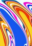 Fluid geometries in pink blue violet yellow hues, abstract background, fantasy. Fluid geometries in purple, pink, blue, violet, yellow hues. Abstract lines Stock Photos