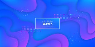 Fluid gradient shapes composition. Liquid color background design. Design posters. Vector illustration. royalty free illustration