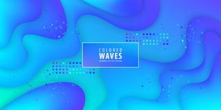 Fluid gradient shapes composition. Liquid color background design. Design posters. Vector illustration. stock illustration