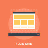 Fluid Grid Stock Photography