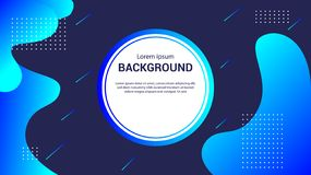 Fluid landing page background. Fluid, liquid, wavy, gradient, flowing, dynamic shape background. Trendy and modern background colo stock illustration