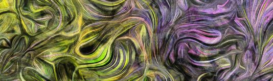 Fluid lines of color movement Royalty Free Illustration