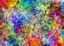 Colorful abstract background. Fluid lines of color movement Stock Illustration