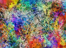 Fluid lines of color movement Stock Images