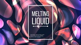 Fluid Liquid Background Vector. Flowing Abstract Colorful Drops. Vibrant Gradient. Fluid Composition. Magic Illustration. Fluid Liquid Background Vector. Dark Stock Photos