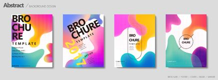 Fluid liquid shape brochure. Pastel color in gradient design vector illustration