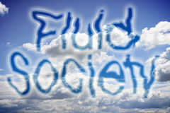 Fluid and liquid society concept image Stock Photography