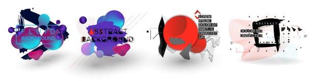 Fluid organiska färgrika former abstrakt bakgrund vektor illustrationer