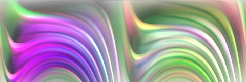 Fluid pink abstract background, mysterious image. Fluid lines in movement in pink, green and blue hues, mysterious image. Abstract texture and design Stock Image
