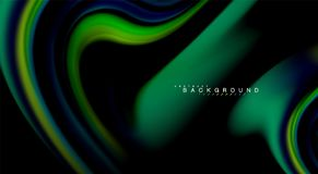 Fluid rainbow colors on black background, vector wave lines and swirls. Artistic illustration for presentation, app wallpaper, banner or poster Royalty Free Stock Photography