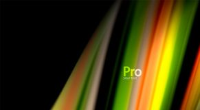 Fluid rainbow colors on black background, vector wave lines and swirls. Artistic illustration for presentation, app wallpaper, banner or poster vector illustration