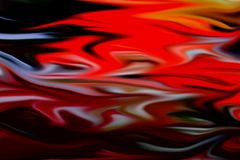 Fluid red orange dark background, waves like shapes. Red gray orange dark soft fluid waves like shapes, fluid forms and colors, abstract design. Hypnotic Royalty Free Stock Image