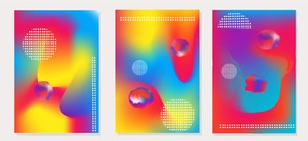 Fluid shapes abstract background vector illustration for page,cover,flayer,poster and print. Trendy abstract background with colorful fluid shapes illustration stock illustration