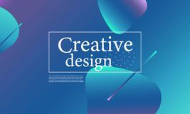 Fluid shapes composition. Wavy cover design. Fluid shapes composition. Wavy abstract cover design. Creative colorful wallpaper. Trendy gradient poster. Vector vector illustration