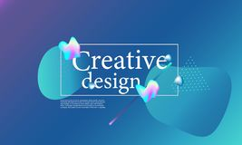 Fluid shapes composition. Wavy cover design. Fluid shapes composition. Wavy abstract cover design. Creative colorful wallpaper. Trendy gradient poster. Vector royalty free illustration