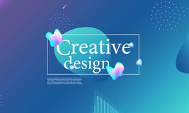Fluid shapes composition. Wavy cover design. Fluid shapes composition. Wavy abstract cover design. Creative colorful wallpaper. Trendy gradient poster. Vector stock illustration